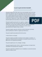 La Gente Que Me Gusta de Mario Benedetti