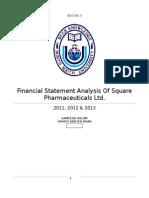 Financial Analysis of Square Pharma