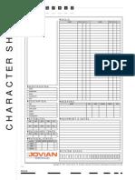 Jovian Chronicles RPG Character Sheet