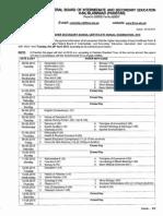 FBISE Federal Board 1st, 2nd Year Date Sheet 2015