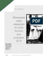 Observações sobre textos literários para tv