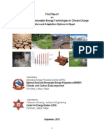Study on Role of Renewable Energy Technologies in Climate Change Mitigation and Adaptation