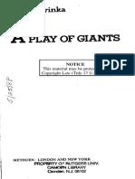 Wole Soyinka- A Play of Giants