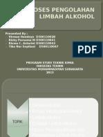 Proses Pengolahan Limbah Alkohol
