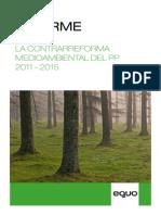 Informe Contrarreforma Medioambiental del PP