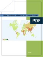 Public Expenditure in Education and Economic Growth In Bangladesh