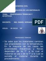 Propiedades Termicas y Acusticas de Los Materiales .Vergara
