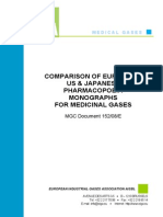 EIGA (2008) - Comparison of EP, USP & JP for Medicinal Gas