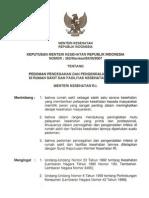 KMK No. 382 Tahun 2007 Tentang Pedoman PPI Di Rumah Sakit Dan Fasyankes Lainnya 2008