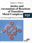 Kinetics and Mehanism of Reactions of Transition Metal Complexes by Ralph G. Wilkins