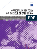 Official Directory of the European Union 2012