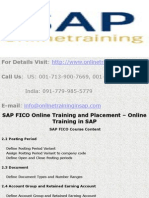 SAP FICO Online Training and Placement - Online Training in SAP