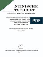 Byzantinische Zeitschrift Jahrgang 37 (1937)