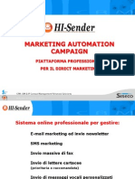 Siseco HI Sender - MARKETING AUTOMATION CAMPAIGN