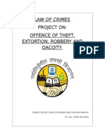 Offences of theft,robbery,extortion,dacoity