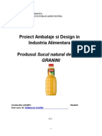Ambalaje Si Design in Industria Alimentara - Produsul Sucul Natural de Fructe Granini