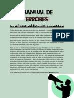 Texto promocional - Manual de Errores