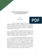 Le Droit Constitutionnel Marocain Ou La Maturation Progressive d'Un Systeme Evolutif.