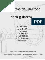 Varios Autores. Diez Piezas Barrocas Para Guitarra (Transcripciones)