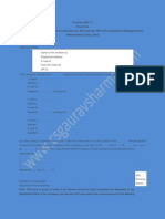 Format form  MGT-11 Proxy Form