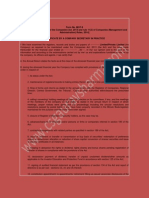 Format Form Mgt8 Certificate by a Company Secretary in Practice