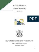 Btech First Year Syllabus Final