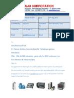 Varia Aluminium p Ltd Rughing Line Project 7-6-2014