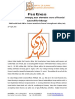 Press Release on Islamic Finance is Emerging as an Alternative Source of Financial Sustainability in Europe (English)