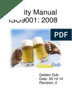 golden dub quality manual