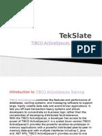 TIBCO ActiveSpaces Training