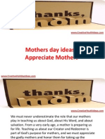 Mothers Day Ideas - Appreciate Mothers