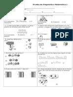 Prueba de Diagnóstico Matemática Lista