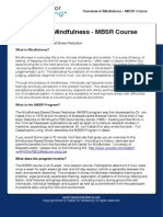 April 6 2012 Overview MBSR Course