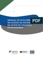 Manual de Acolhimento No Acesso Ao Sistema de Saúde de Cidadaos Estrangeiros