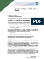 Lectura 2 - El Proceso Estratégico. Análisis Externo y