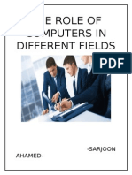 The Role of Computers in Different Fields