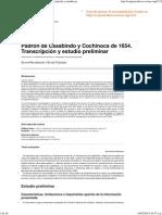 Palomeque y Tedesco 2014 Padrón de Casabindo y Cochinoca de 1654. Transcripción y Estudio Preliminar Con Advertencia