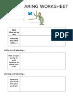 Skill Sharing Worksheet