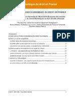 Etude poids économique du Droit en France