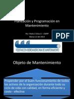 Planeación y Programación en Mantenimiento Pedro Silva