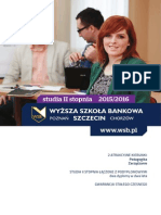 Informator 2015 - studia II stopnia - Wyższa Szkoła Bankowa w Szczecinie.pdf