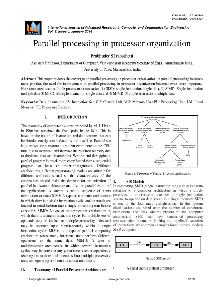 sisd | Parallel Computing | Central Processing Unit