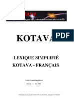 Lexicon Kotava - French