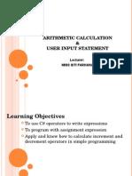 Arithmatic Calculation w8