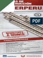 ACEROS  -  ESPECIFICACIONES