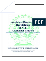 Academic Rules and Regulations of NIT