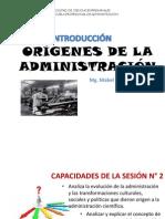 Origenes e Historia de La Administracion