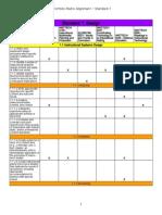 eportfolio matrix alignment - standard 1 - sheet1
