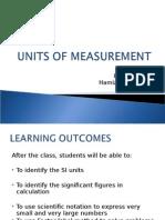 1) Units of Measurement
