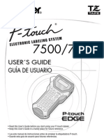 Brother PTouch Consumer UsersManual UM PT 7500 7600